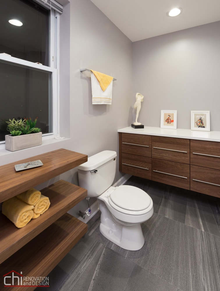 Chicago Wicker Park Bathroom Flooring Renovation