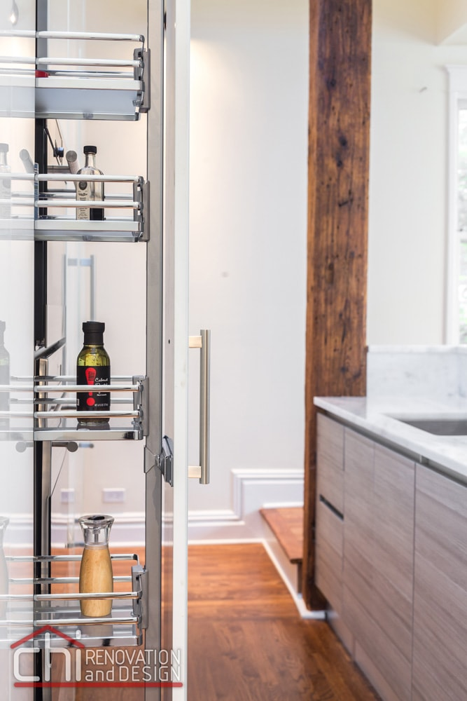 Contemporary Chicago Kitchen Cabin Rack Remodel