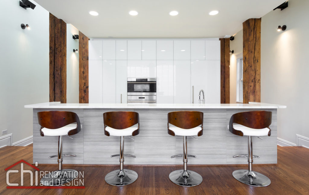Contemporary Chicago Kitchen Chairs Remodel