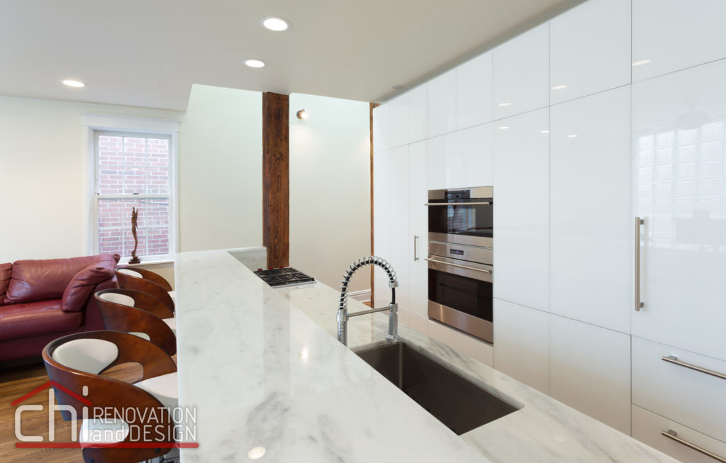 Contemporary Chicago Kitchen Countertop Remodel