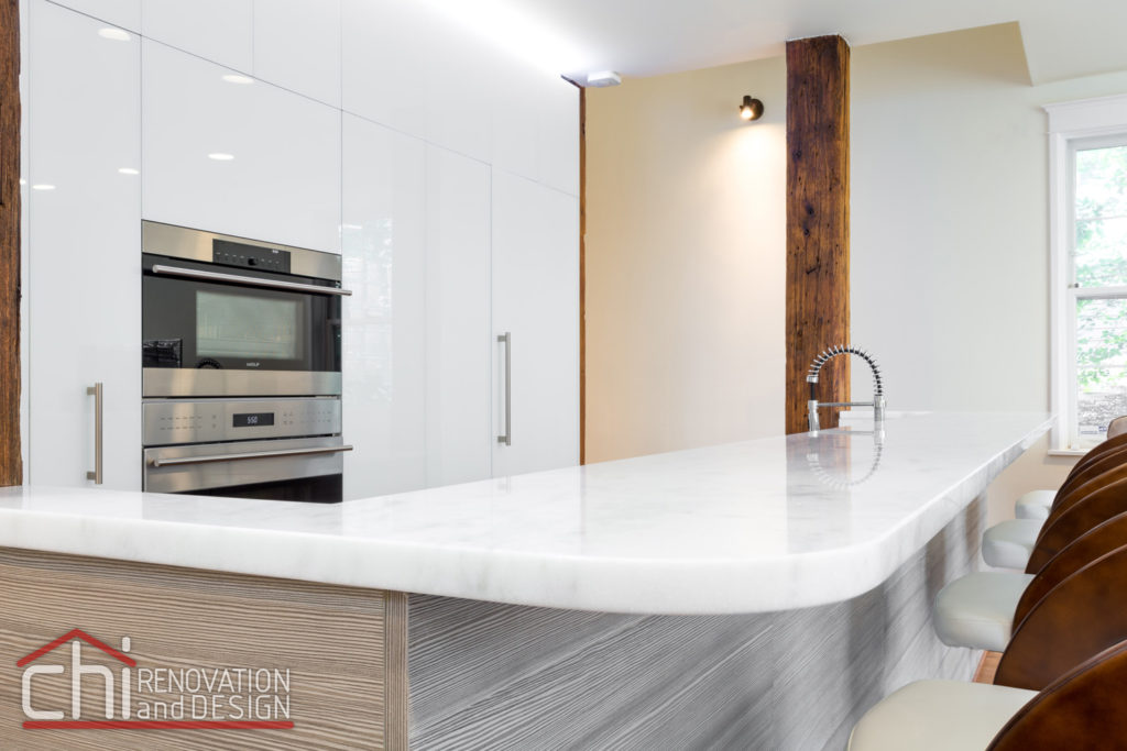 Contemporary Chicago Kitchen Island Remodel