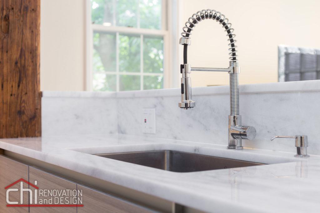 Contemporary Chicago Kitchen Sink Remodel