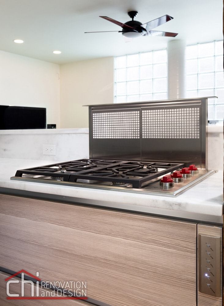 Contemporary Chicago Kitchen Stove Remodel