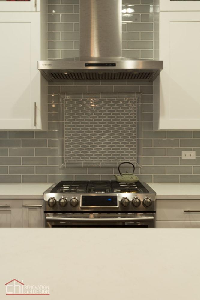 Contemporary Kitchen Backsplash Renovation Chicago