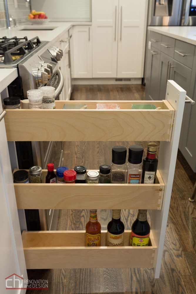 Contemporary Kitchen Chicago Sliding Spice Rack