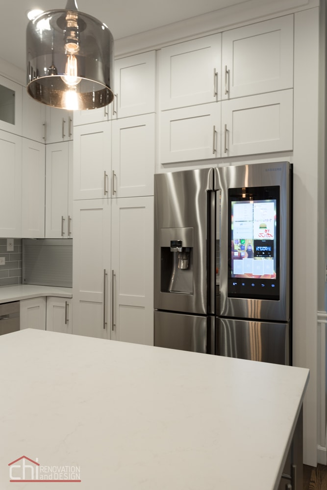 Contemporary Kitchen Refrigerator Cabinet Remodel Chicago