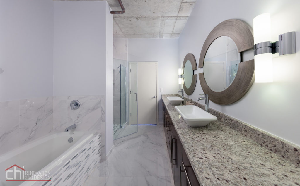 Evanston Loft Bathroom Interior Remodel