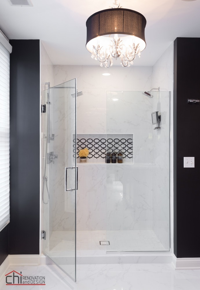 Glenview Master Bathroom Shower Remodeling