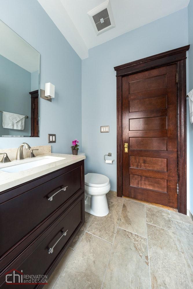 Lincoln Park Bathroom Flooring Renovation