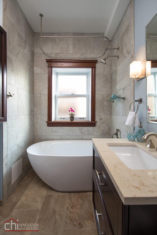 Lincoln Park Bathroom Sink Countertop Remodel