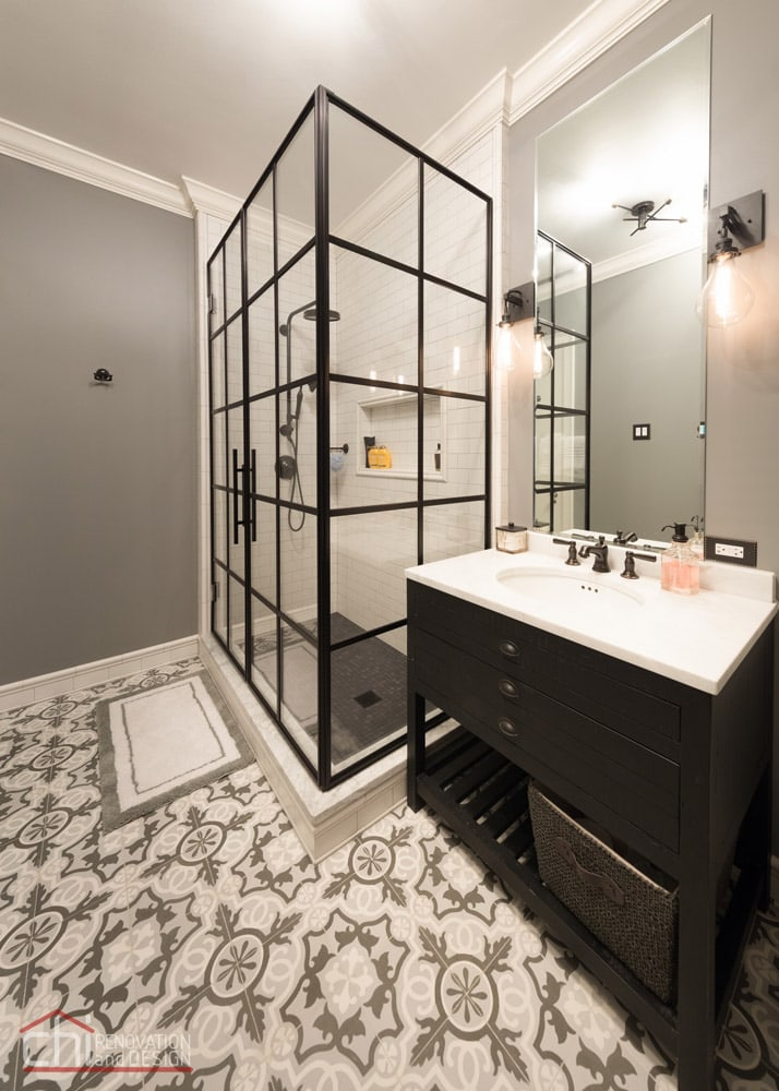 Lincoln Park Guest Bathroom Remodelers