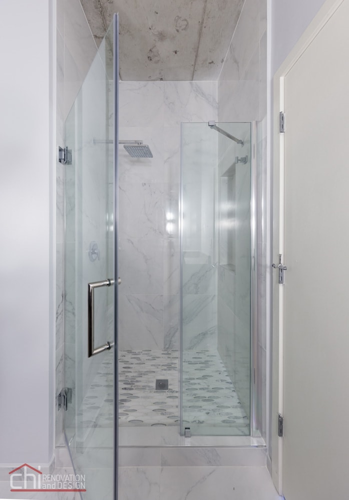 Loft Bathroom Evanston Shower Remodel