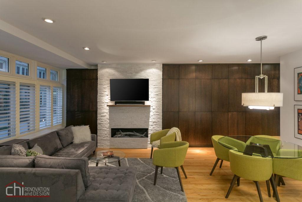 Luxury Mid Century Modern Living Room Renovation