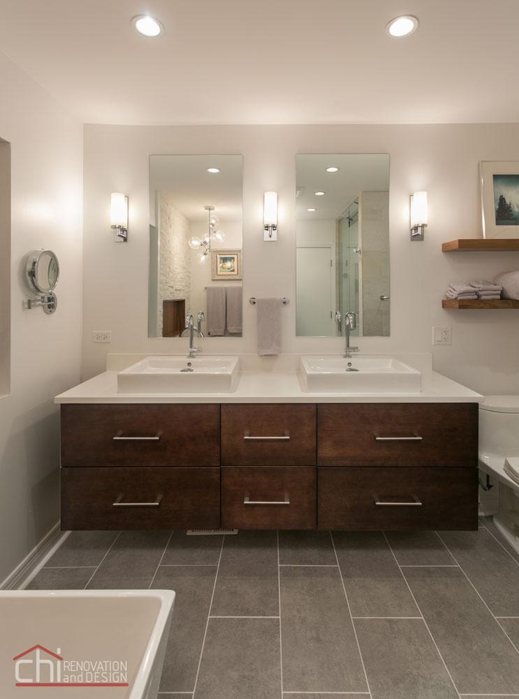 Luxury Mid Century Modern Vanity Remodel