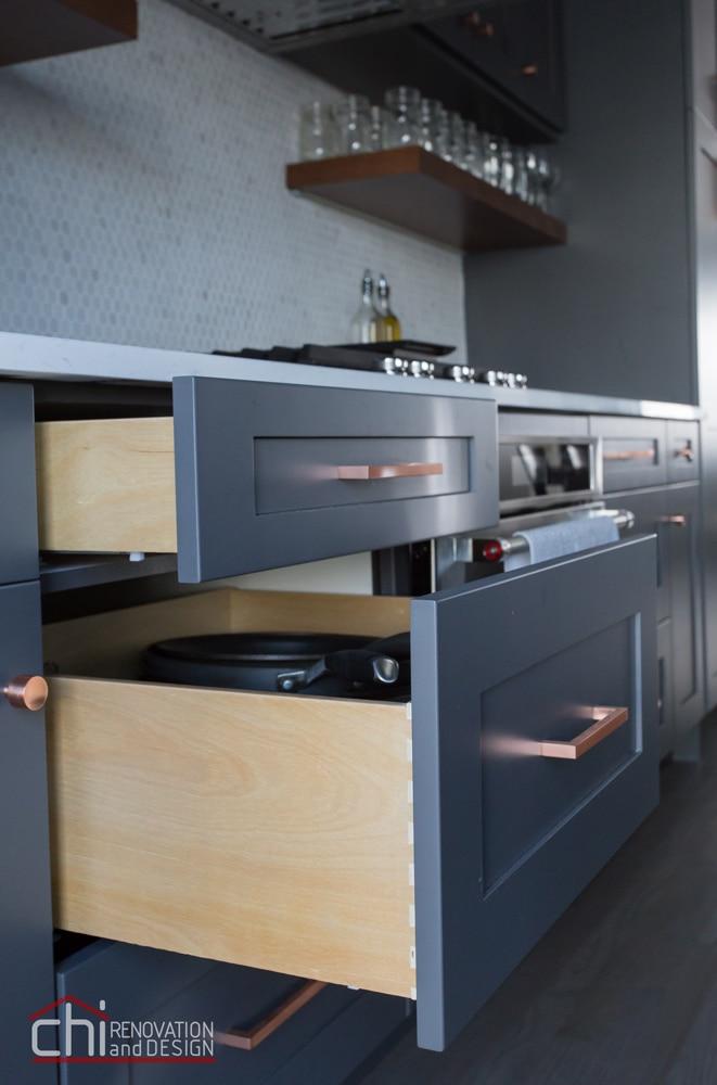 CHI   Luxury Open Concept Kitchen Cabinet Design