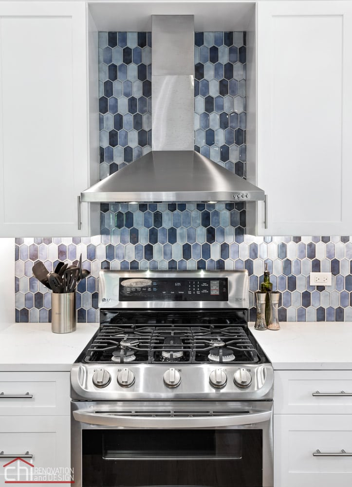 Modern Chicago Kitchen Renovation Backsplash
