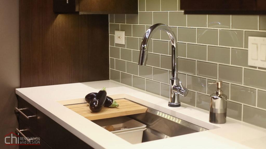 Modern Rustic Chicago Kitchen Sink Remodel