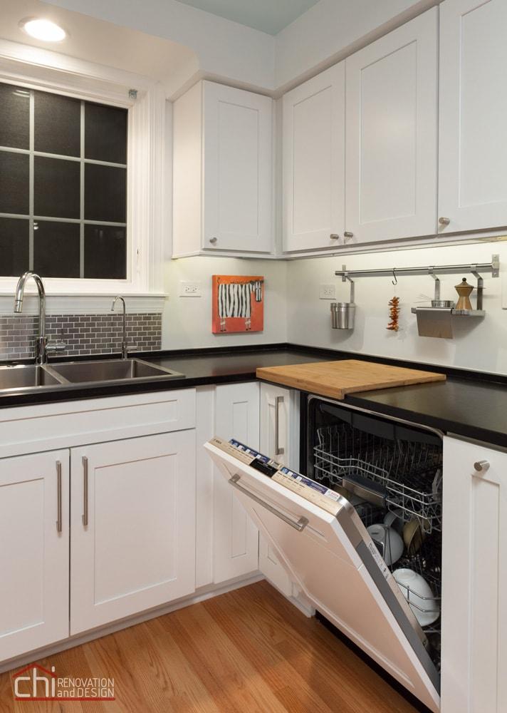 Niles Kitchen Open Cabinet Renovation