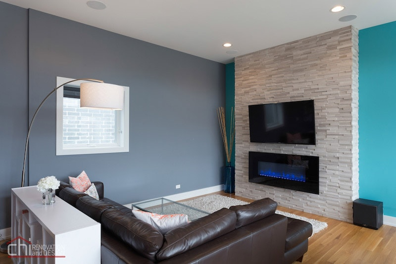 Noble Square Condo Living Room Renovation