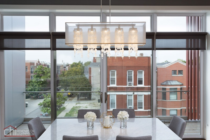 Noble Square Condo Window Treatment Remodeling