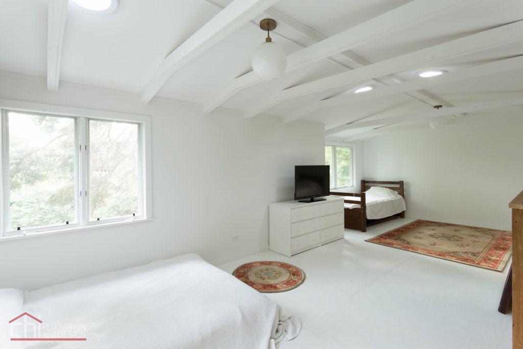 Northshore Cottage Basement Bedroom Renovation