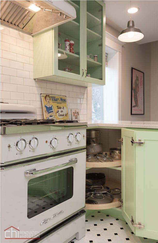 Retro Humboldt Park Kitchen Remodeling