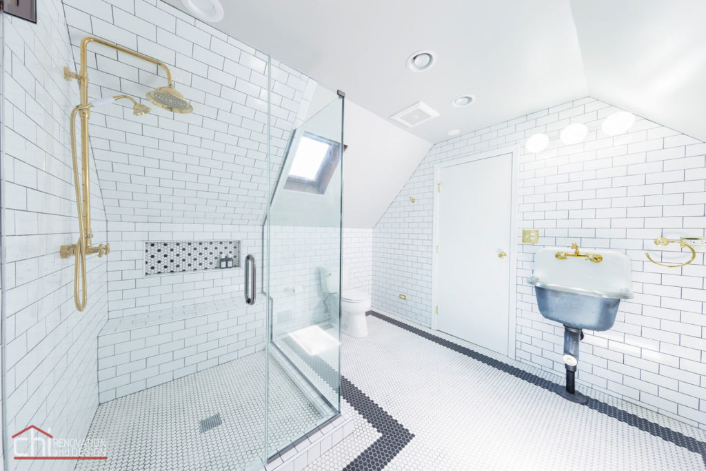 Roscoe Village Attic Space Bathroom Renovation