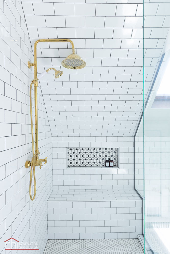 Roscoe Village Attic Space Chicago Shower Remodel