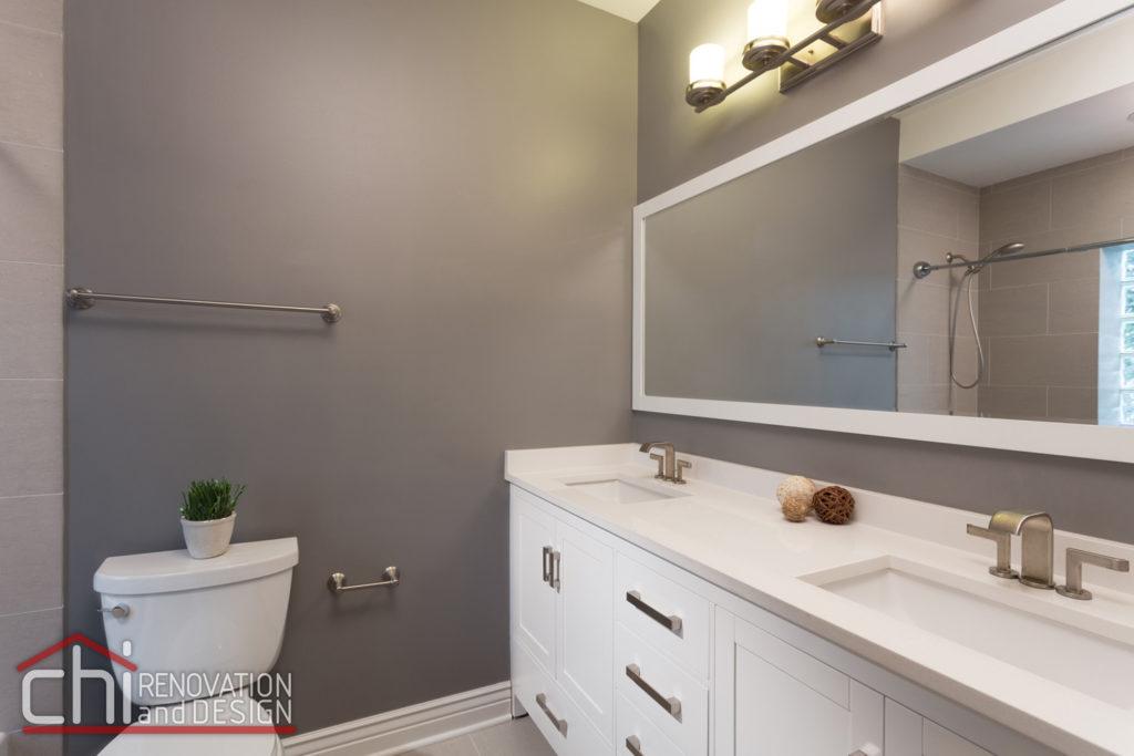 Roscoe Village Bathroom Dual Sink Remodel