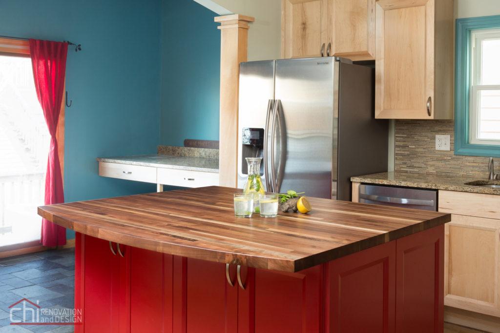 Roscoe Village Kitchen Island Renovation