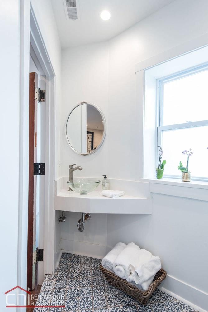Shabby Chic Studio Loft Bathroom Remodelers