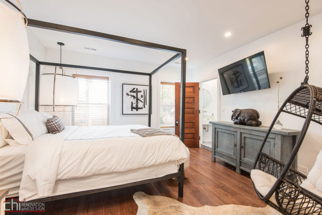 Shabby Chic Studio Loft Bedroom General Contractor