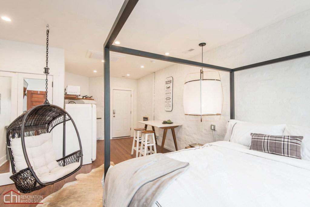 Shabby Chic Studio Loft Bedroom Interior Renovation