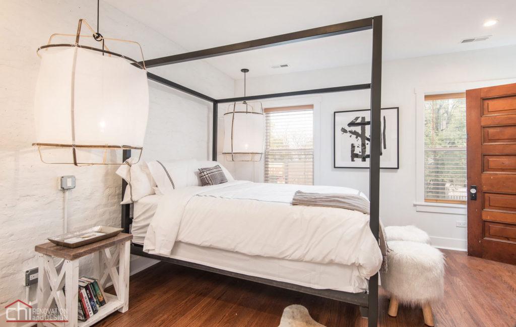 Shabby Chic Studio Loft Chicago Bedroom