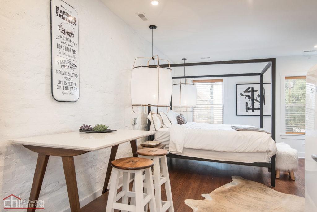 Shabby Chic Studio Loft Chicago Bedroom Design