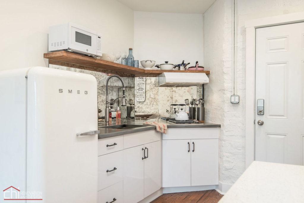 Shabby Chic Studio Loft Chicago Kitchen Builders