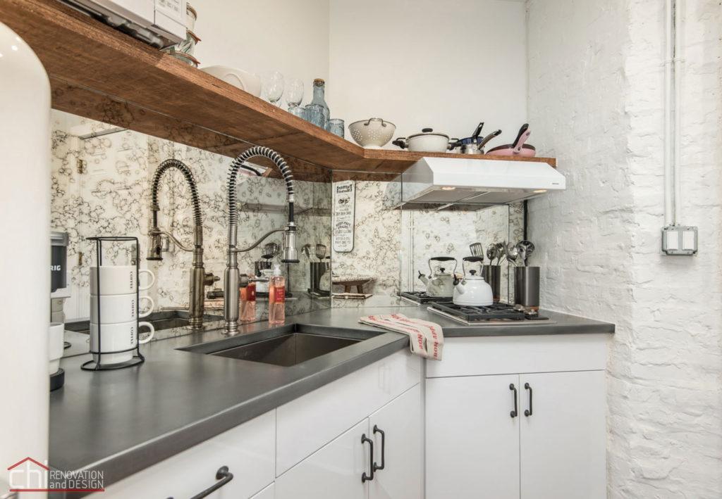 Shabby Chic Studio Loft Kitchen Remodeling