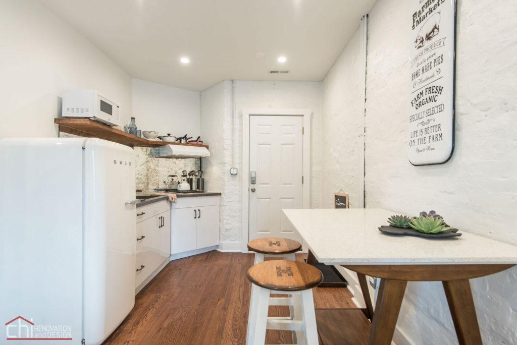 Shabby Chic Studio Loft Kitchen Renovation