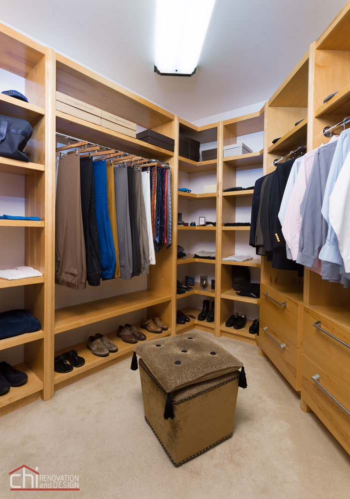 Skokie Custom Woodwork Closet Remodel