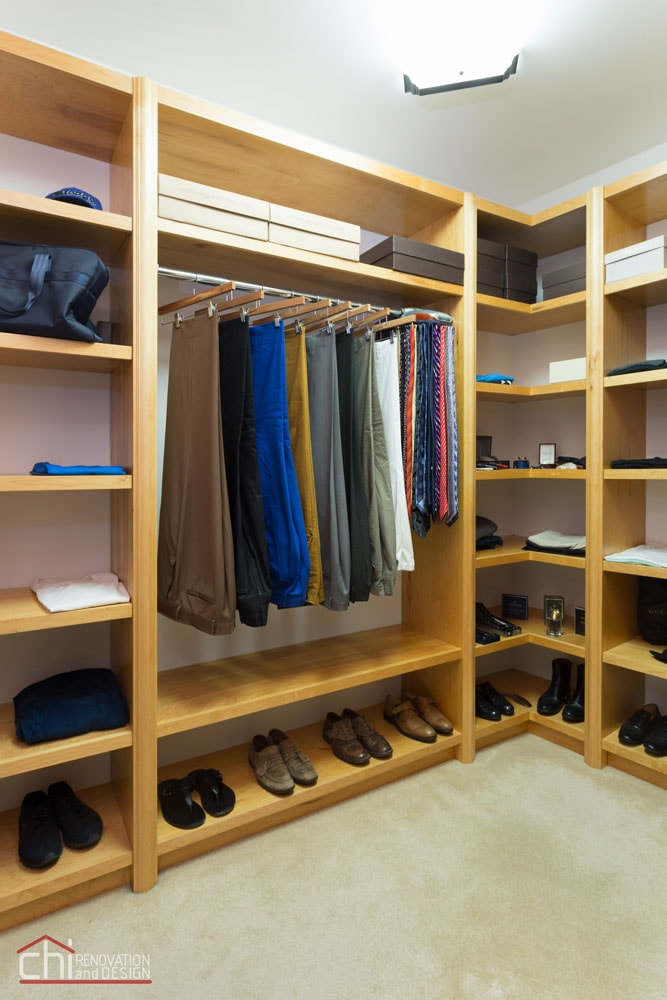 Skokie Custom Woodwork Office Closet Remodel