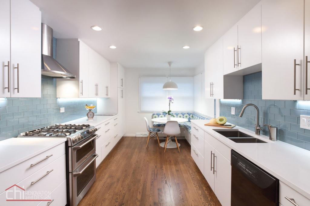 Skokie Kitchen Banquette Interior Remodel