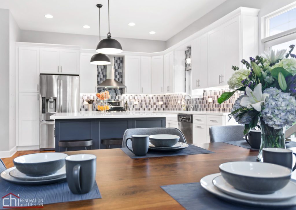 Sleek Modern Chicago Kitchen Dining Decor