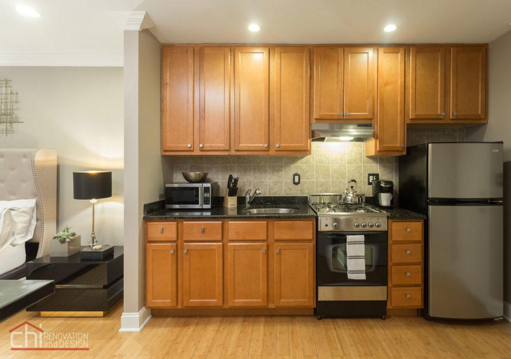 Upscale Chicago Studio Kitchen Renovation