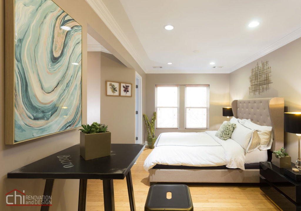 Upscale Studio Bedroom Renovation Design Milwaukee