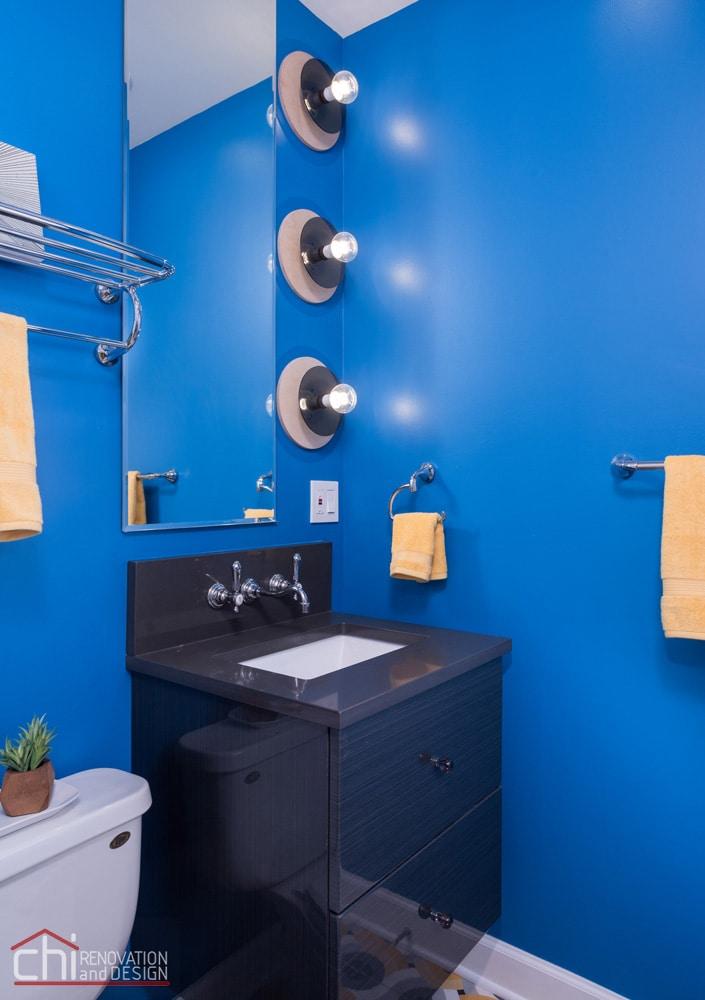 Wicker Park Guest Bathroom Sink Remodeling