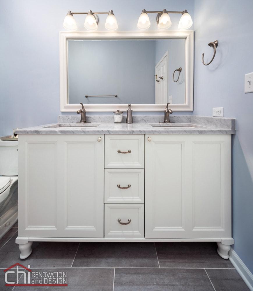 Wrightwood Bathroom Dual Sink Vanity Remodel