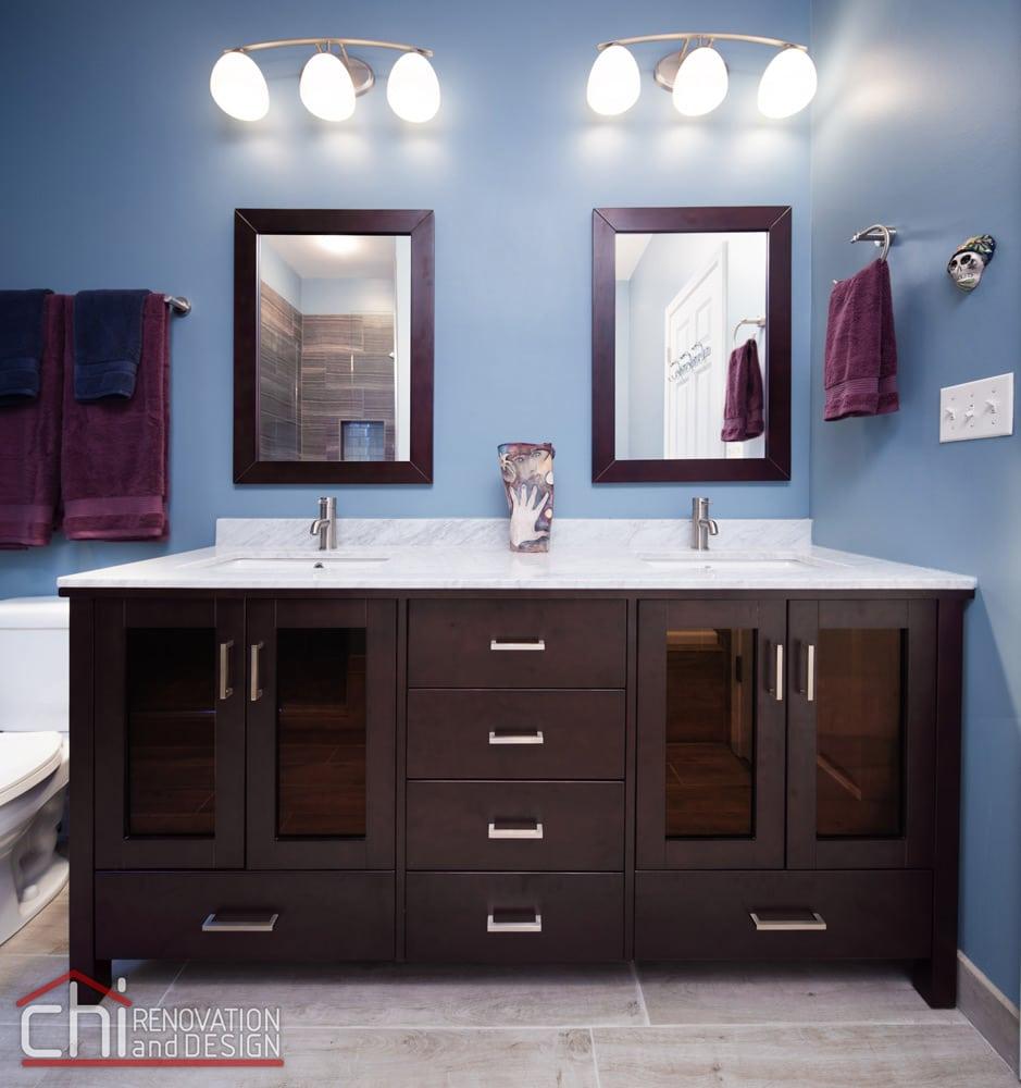 Wrigleyville Bathroom Dual Sink Vanity Remodel