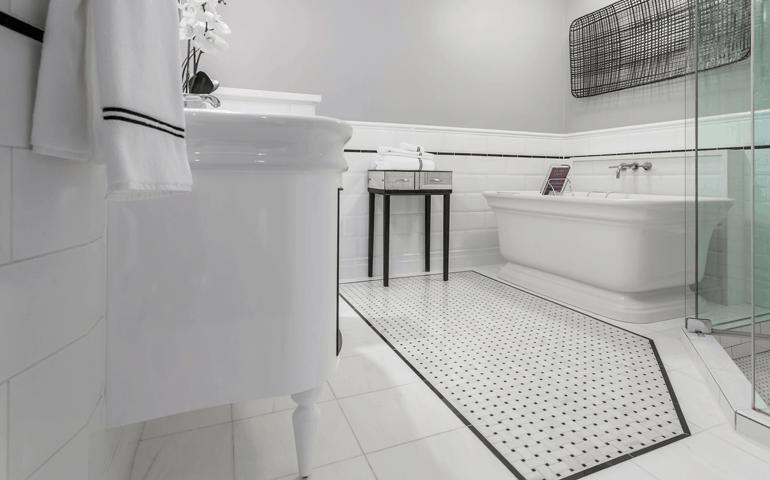 Chicago Bathroom Floor Trend