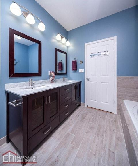 Chicago Bathroom Vinyl Flooring Renovation