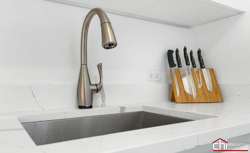 Compact Elegant Chicago Kitchen Sink Remodel